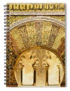 Ornate Mezquita Mihrab In Cordoba Spiral Notebook
