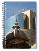 Ornate Old And Plain New Spiral Notebook