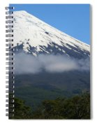 Osorno Volcano Ringed By Clouds Spiral Notebook