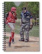 Ouch Baseball Foul Ball Digital Art Spiral Notebook