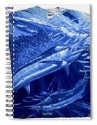 Out Of Sight Mens Blue Shirt Spiral Notebook