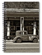 Out Of The Past Sepia Spiral Notebook