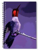 Out On A Limb - Purple Spiral Notebook