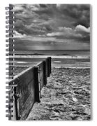 Out To Sea Monochrome Spiral Notebook