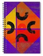 Outback De Stijl Spiral Notebook