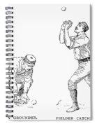 Outfielder, 1889 Spiral Notebook