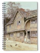Outside A Timbered Cottage Spiral Notebook