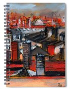 Over The Roofs Spiral Notebook