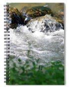 Over The Stones The Water Flows Spiral Notebook
