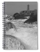 Overflooding Black And White Spiral Notebook