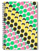 Overlayed Dots Spiral Notebook
