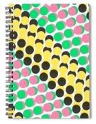 Overlayed Dots Spiral Notebook