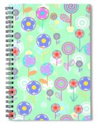 Overlayer Flowers  Spiral Notebook