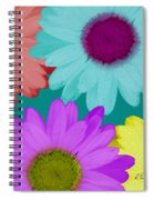 Oversize Daisies Two Spiral Notebook