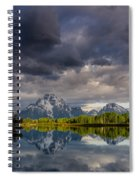 Oxbow Light And Clouds Spiral Notebook