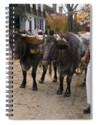 Oxen And Handler Spiral Notebook