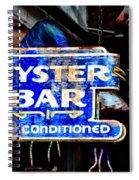 Oyster Bar Sign Spiral Notebook