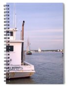 Oyster Boat On The River  Spiral Notebook
