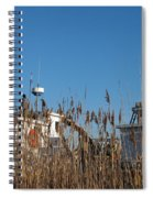 Oyster Boats In Dry Dock  Spiral Notebook