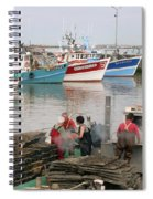 Oyster Harvest Spiral Notebook