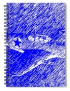 P 51 Mustang Flying In The Rain Spiral Notebook
