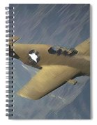 P 51 Mustang On A Mission Spiral Notebook