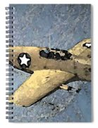 P51 Mustang In Flight Spiral Notebook