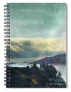 Pacific Ocean Fog Bank  Spiral Notebook