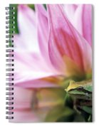 Pacific Tree Frog In A Dahlia Flower Spiral Notebook