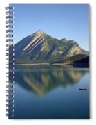 Sunrise Paddle In Peace - Kananaskis, Alberta Spiral Notebook