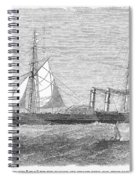 Paddle Wheel Packet Ship Spiral Notebook