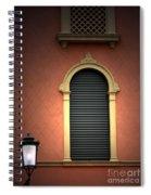 Padua Window And Lamp Light Padua Italy Spiral Notebook
