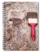 Paint Brush Next To Camarasaurus Spiral Notebook