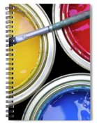 Paint Cans Spiral Notebook