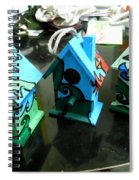 Painted Birdhouses Spiral Notebook