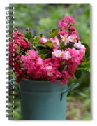 Painted Bucket Of Flowers Spiral Notebook