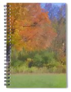 Painted Leaves Of Autumn Spiral Notebook