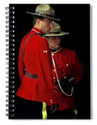 Painted Mounties Spiral Notebook