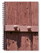 Painted Red Iron Hinge On A Red Barn Door Spiral Notebook