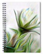 Painterly White Roses Spiral Notebook