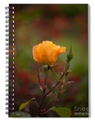 Painterly Yellow Rose Spiral Notebook