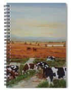 Painting Cows On Cors Caron Tregaron Spiral Notebook