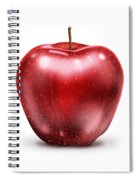 Painting Of Red Apple Spiral Notebook