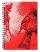 Pair Of Cardinals Spiral Notebook