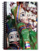 Pair Of Large Puppets At The Surajkund Mela Spiral Notebook