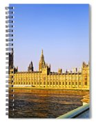 Palace Of Westminster From Bridge Spiral Notebook