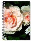 Pale Pink Roses In Garden Spiral Notebook