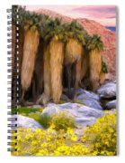 Palm Oasis And Wildflowers Spiral Notebook