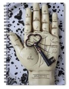 Palm Reading Hand And Key Spiral Notebook