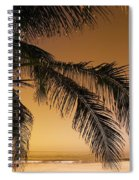 Palm Tree And Sunset In Mexico Spiral Notebook